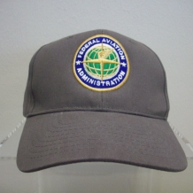 Brushed Twill Cap w/Seal-Gray