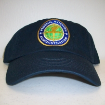 Cap with FAA Seal-Navy Washed