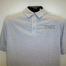 Digi Heather Perf Polo-Grey