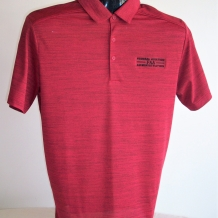 PA Stretch Hthr Polo-Red/Black