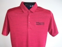 PA Stretch Hthr Polo-Red/Black-up close view