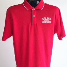 ST DriMesh Polo w/Tip-Red/White
