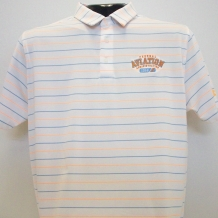UA Perf Stripe Polo-Onyx White