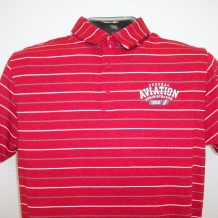 UA Perf Stripe Polo-Red
