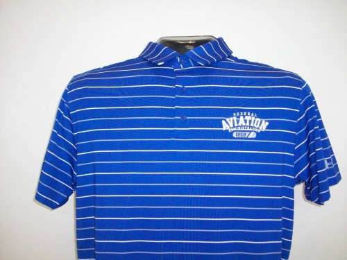 UA Performance Stripe Polo-Royal
