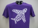Adult Airplane Tee-Hthr Purple