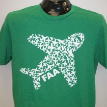 Adult Airplane Tee-Hthr Kelly Green