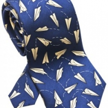 Paper Airplane Tie