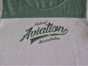 Ladies ST Fan Tee-Forest/Lt Grey-up close