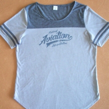 Ladies ST Fan Tee-Charcoal