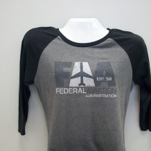 Ladies Raglan T-Gry/Blk