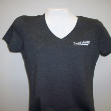 Ladies V Neck Charcoal