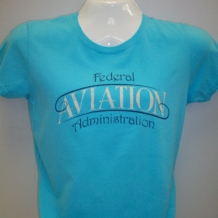 Ladies Pigment Dyed Tee-Lagoon Blue