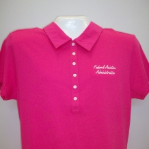 Ladies Tri-Mtn Cotton Polo-Fushcia