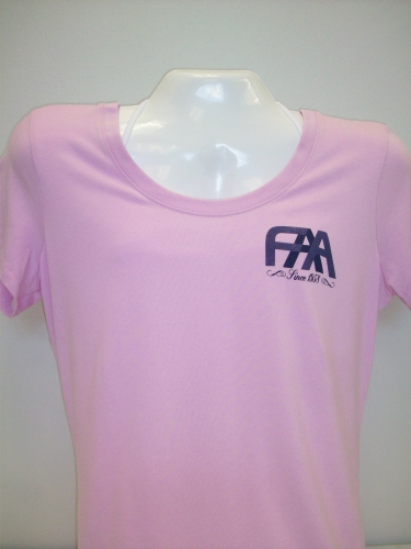 Ladies Scoop Neck Tee-Lilac