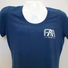 Ladies Scoop Neck Tee-Nept Blue