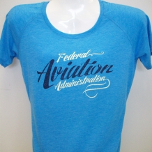 Ladies Performance Tee-Pond Blue