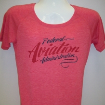 Ladies Performance Tee-Red Heather