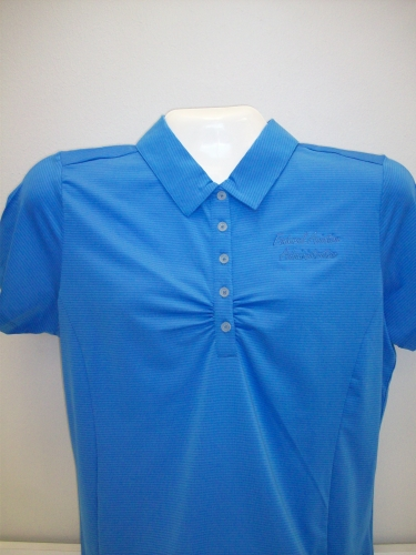 Ladies Ruched Polo-Reg Blue