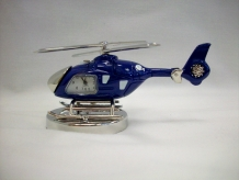 Clock Helicopter Blue