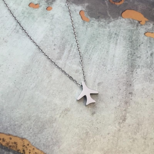 SS Airplane Necklace