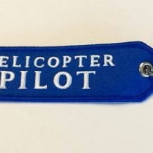 Helicopter Pilot Keychain
