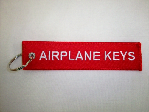 Airplane Keys Keychain-embroidered
