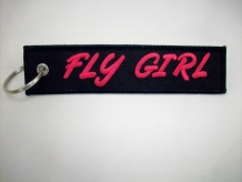Flye Girl Keychain-embroidered