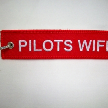 Pilot's Wife Keychain-embroidered