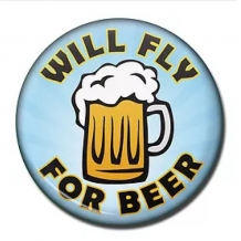 Fridge Magnet-Fly For Beer