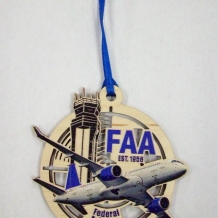 FAA Wood Ornament