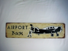 Airport Bum Sign