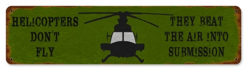 Helicopter Beat Air Sign