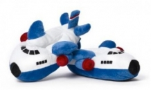 Airplane Slippers-Blue