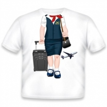 Kid's Tee-Flight Attendant