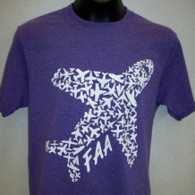 Youth Airplane Tee-Hth Purple