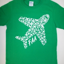 Youth Airplane Tee-C. Green