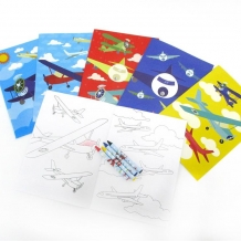 Mini Coloring Book-Airplanes