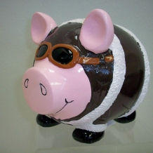 Aviator Pig Bank