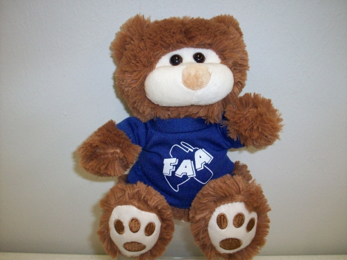 Bear with FAA T-shirt