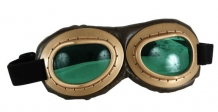 Aviator Goggles-Green/Brown