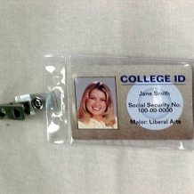 Vertical ID Holder